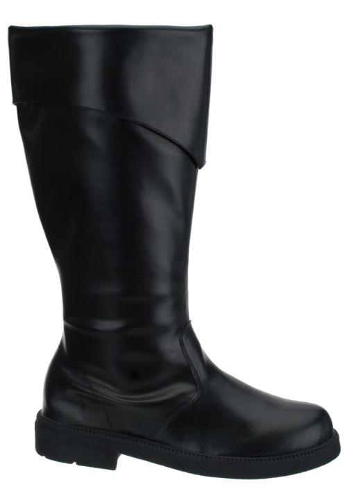 Mens Tall Black Costume Boots