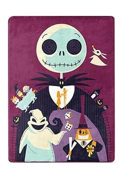 Nightmare Before Christmas Psychedelic World Throw
