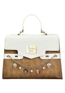 Golden Girls Charms Metallic Crochet Fabric Handbag