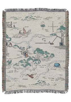 Pooh Hundred Acre Woods Tapestry Throw