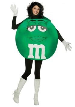 Women's Green M&M Costume
