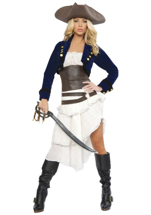 Women's Deluxe Colonial Pirate Costume