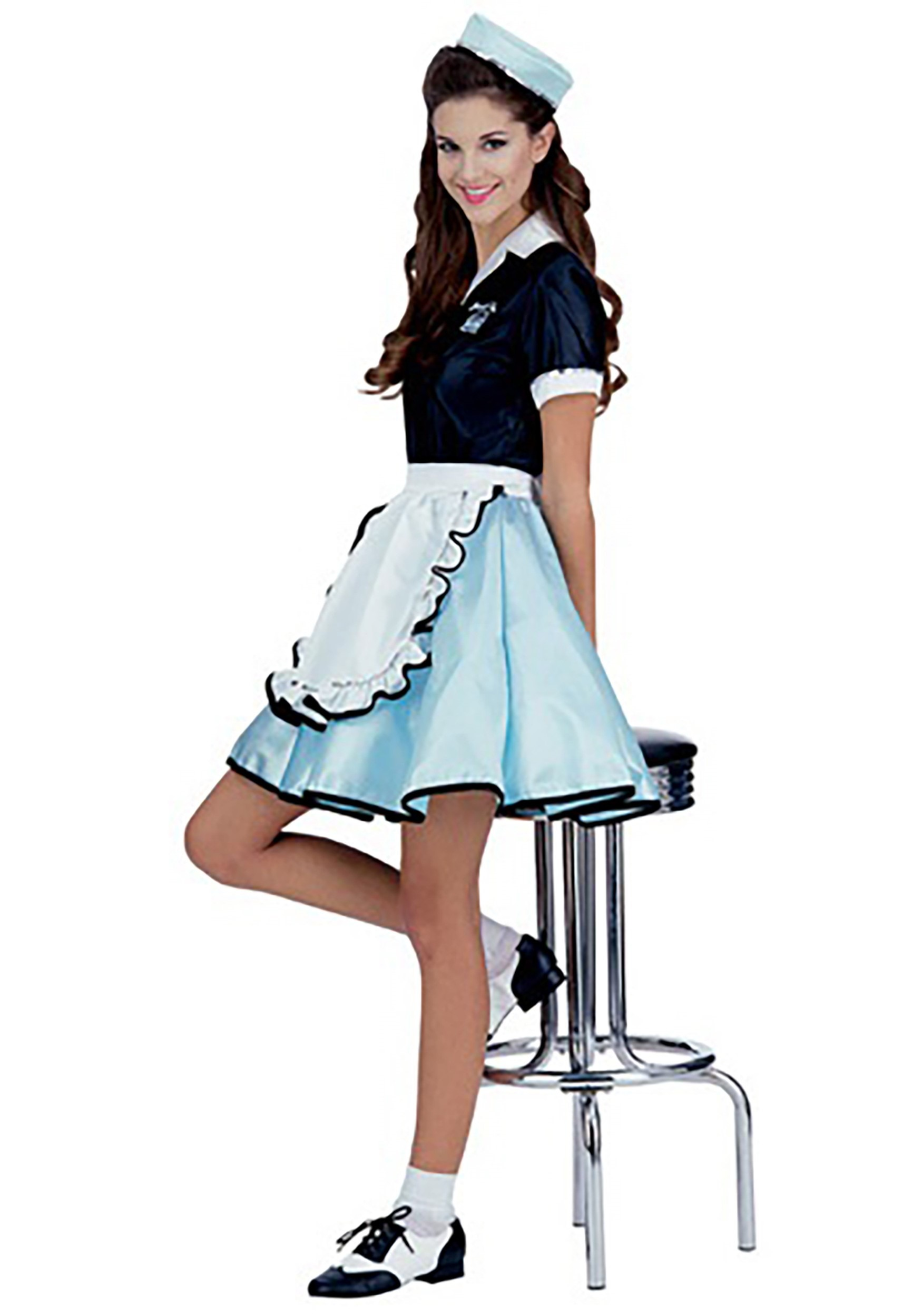fad428eb9578 Car Hop Girl Costume for Women- 1950s Car Hop Girl Costume Ideas