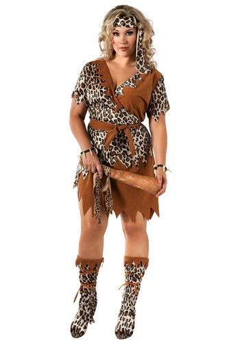 Women's Plus Size Cavewoman Costume