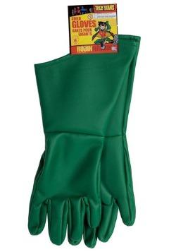 Kids Green Robin Gloves
