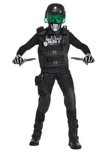 Navy Seal Black Team 6 Kids Costume