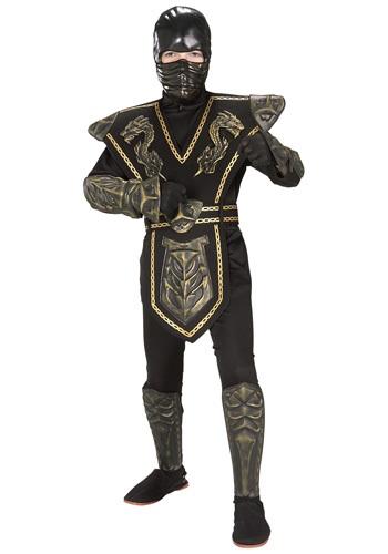 Gold Dragon Warrior Ninja Child Costume