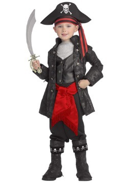 Captain Black Pirate Costume For Little Kids